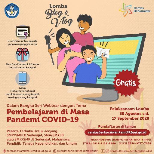 Lomba Blog dan Vlog Bertema Pembelajaran di Masa Pandemi Covid-19 tahun 2020
