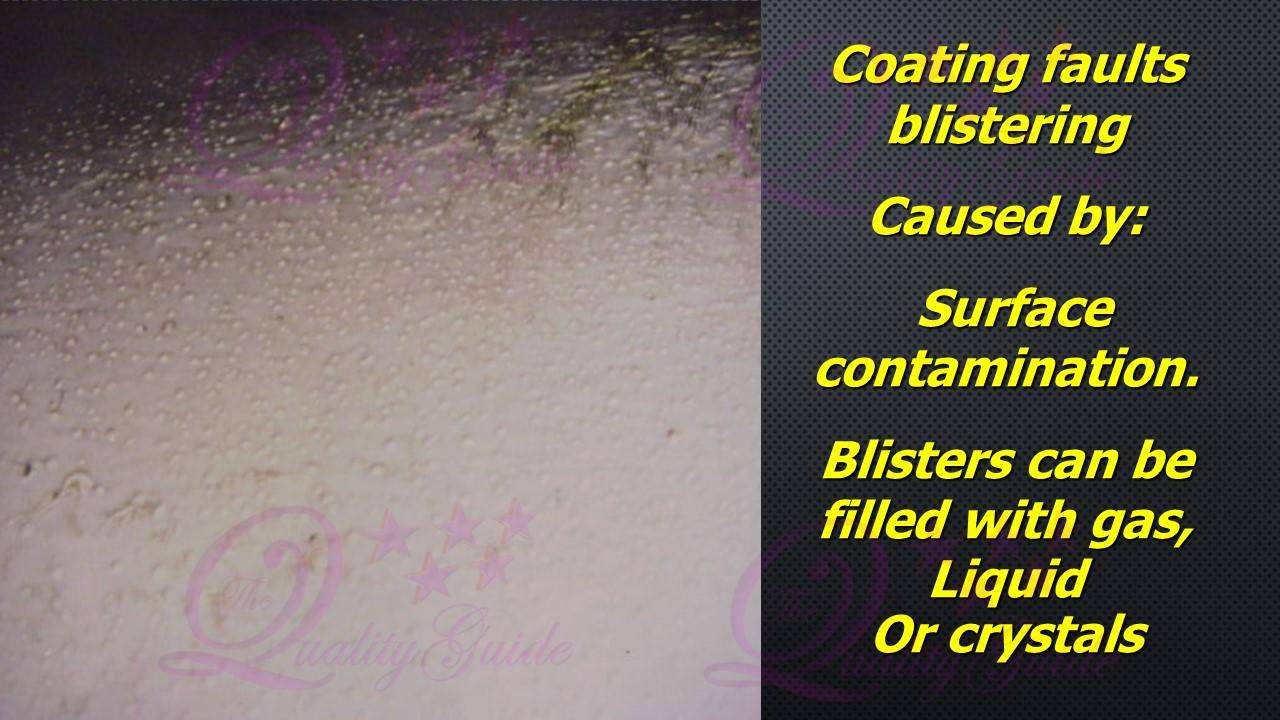 Blistering: