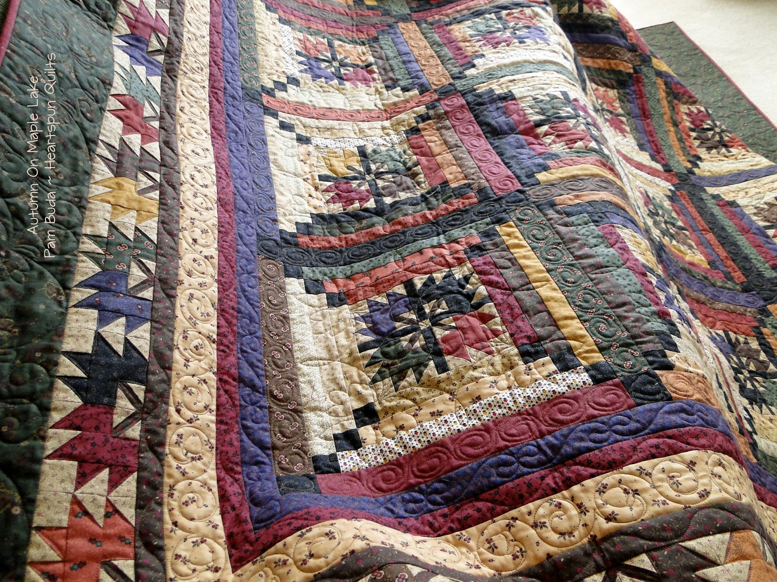 Heartspun Quilts ~ Pam Buda: Autumn On Maple Lake Is Here! : maple quilt - Adamdwight.com