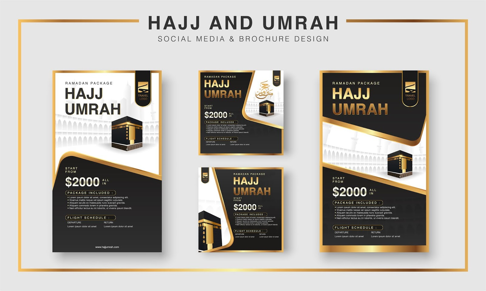 اجمل تجميعة تصاميم اسلامية الحج والعمرة تصاميم مفتوحة المصدر باعلى جودة
