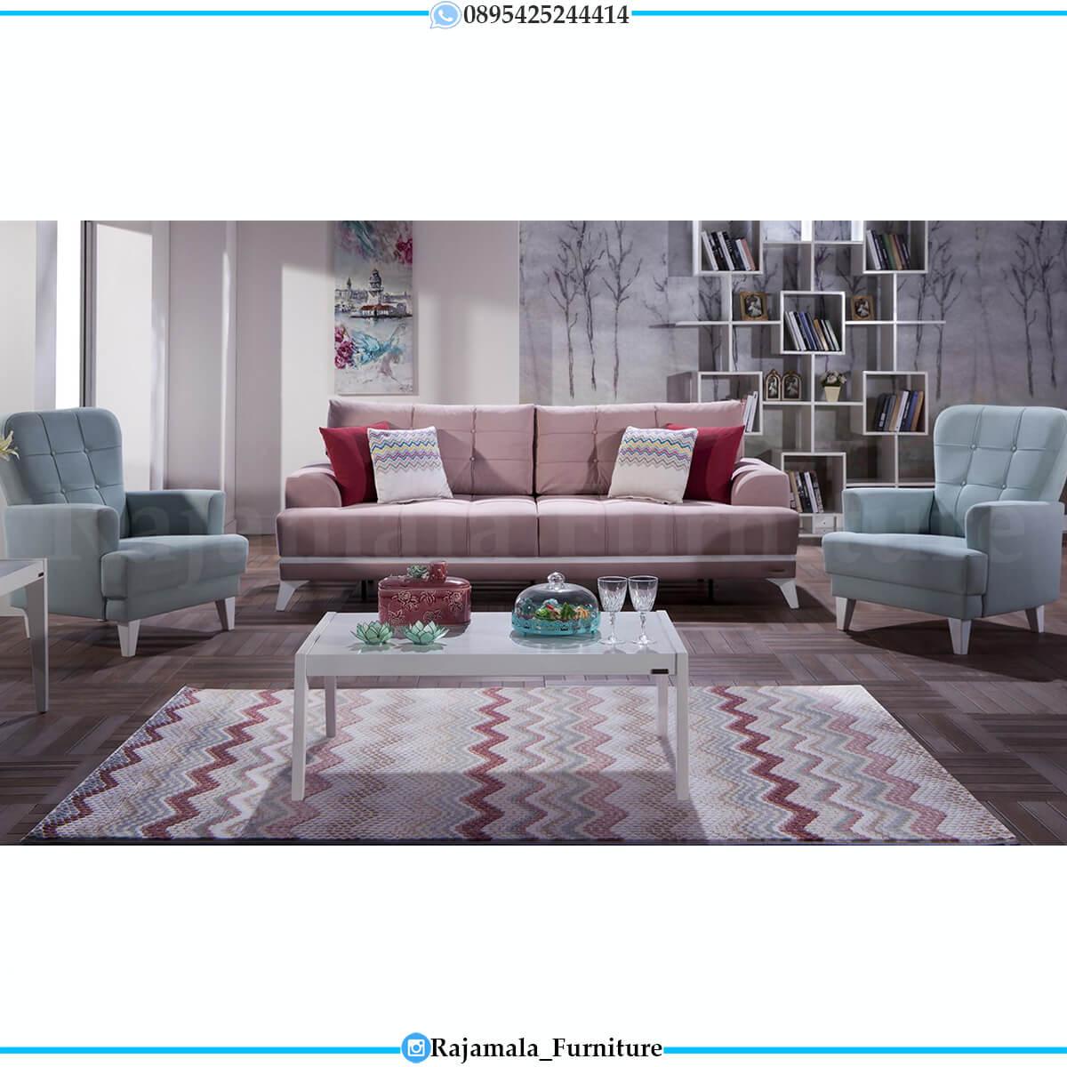 Sofa Tamu Minimalis Shabby Chic Luxury Furniture Jepara RM-0616