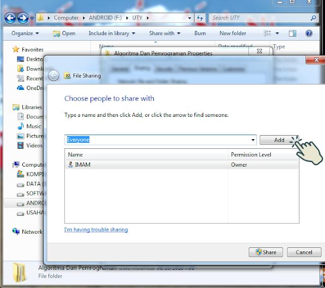 Sharing file atau folder 4