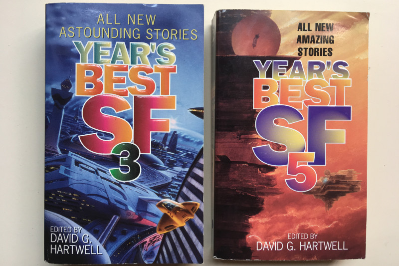 Year's Best SF 3 and Year's Best SF 5 Paperbacks Edited By David G. Hartwell
