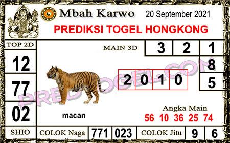 Prediksi Mbah Karwo Hk Senin 20 September 2021