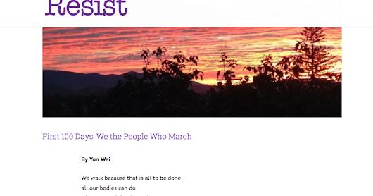 "Poem ""We The People Who March"" in Writers Resist"