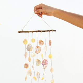 DIY seashell windchime