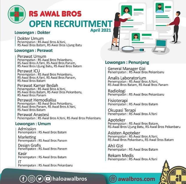 RS Awal Bros Membuka Loker Dokter, Perawat, Umum dan Penunjang.