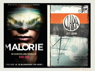 Ik lees nu Malorie van Josh Malerman en Clara zet door van Pieter Feller en Tiny Fisscher