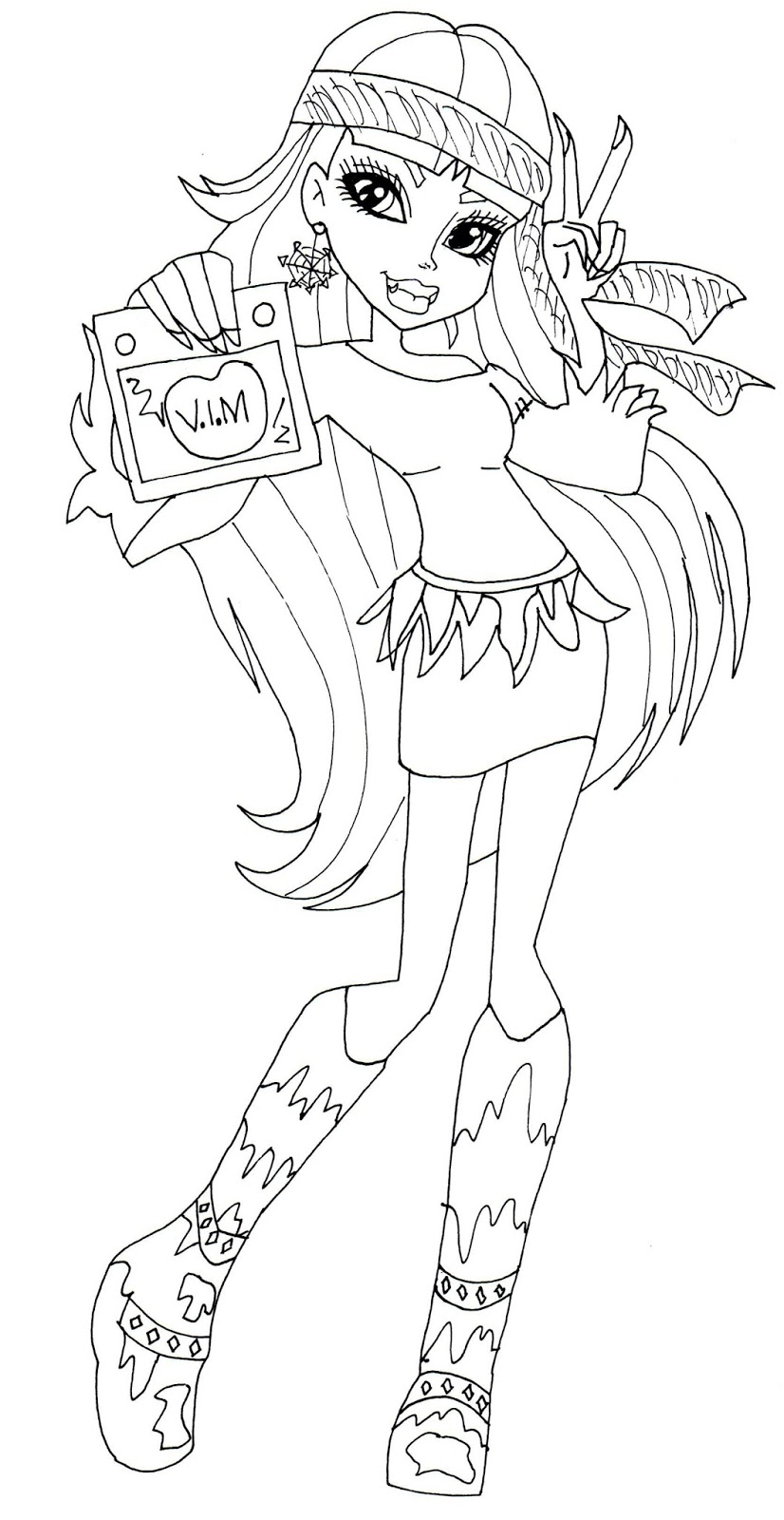 Free Printable Monster High Coloring Pages September 2013