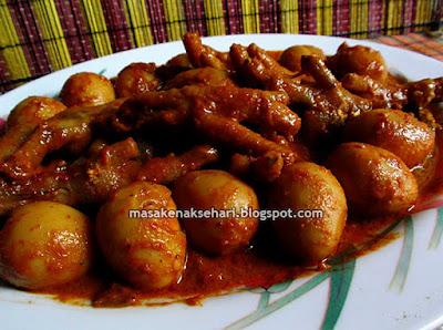 Resep Semur Telur Puyuh Ceker Ayam Super Pedas