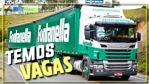 Transportadora Fontanella abre vagas no Sul e Sudeste para Motorista