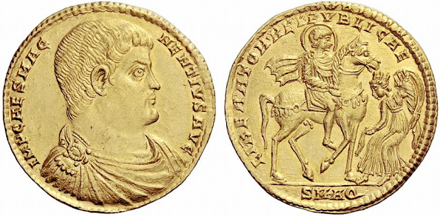 Medallón de oro del usurpador Magnencio