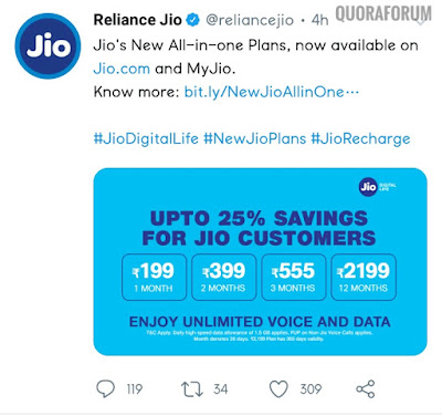 Jio ke All in One New Plans