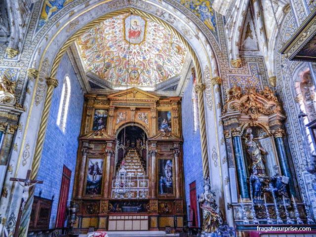 Altar-mor da Capela de São Miguel, na Universidade de Coimbra
