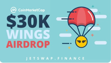 Join $30,000 Worth Of Jetswap.finance Airdrop On CoinMarketCap For Free Get 30 Free Jetswap WINGS