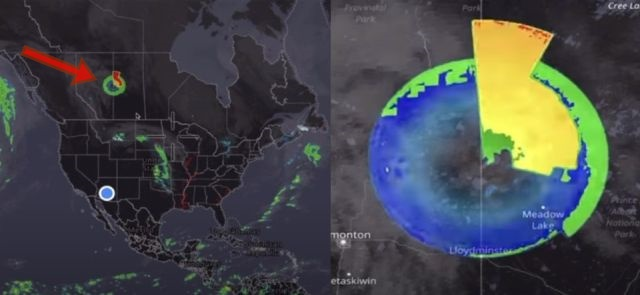 Weird 500-mile-wide anomaly moves at an incredible speed over Canada seen on radar  500-wide-radar-anomaly-canada