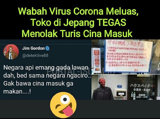 Wabah Virus Corona Meluas, Toko di Jepang TEGAS Menolak Turis Cina Masuk