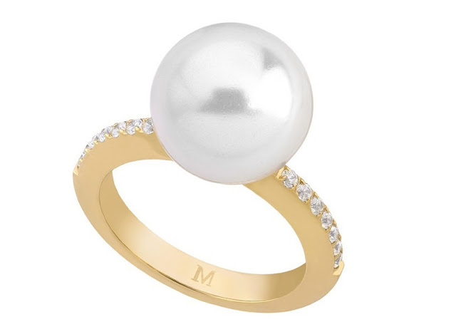 Majorica Pearl Ring with CZ