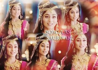 Foto Soumya Seth sebagai Kaurwaki serial Ashoka Samrat
