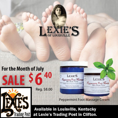 Beauty Skin Care SALE: Lexie's of Louisville's Peppermint Foot Massage Shea Butter Skin Cream - it's ONLY $6.40 per Tub.