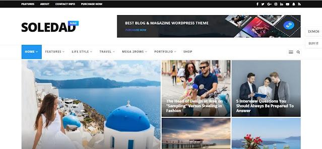 Features of Soledad WordPress theme