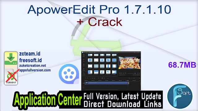 ApowerEdit Pro 1.7.1.10 + Crack_ ZcTeam.id