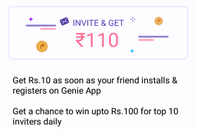 genie app referral program