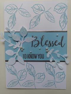 Stampin' Up blue rose card