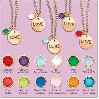 Avon Birthstone Color Love Necklace