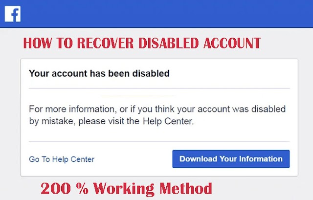 How to Recover a Disabled Facebook Account 2020   100% Working