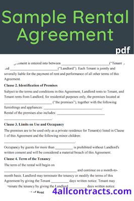 Sample rental lease agreement pdf
