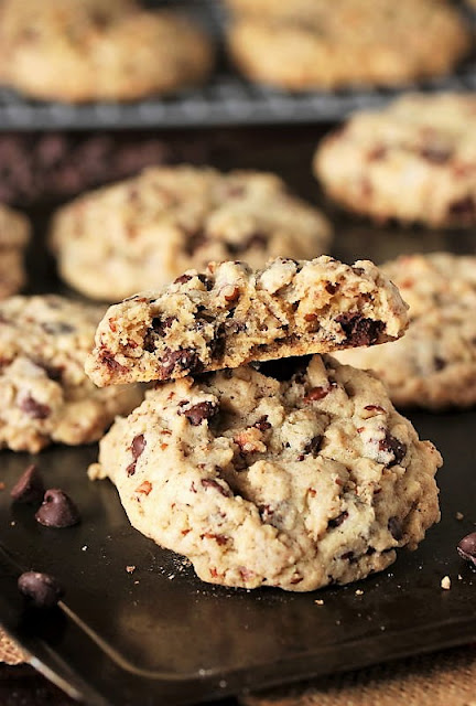 Inside Texture of DoubleTree Chocolate Chip Cookies Image