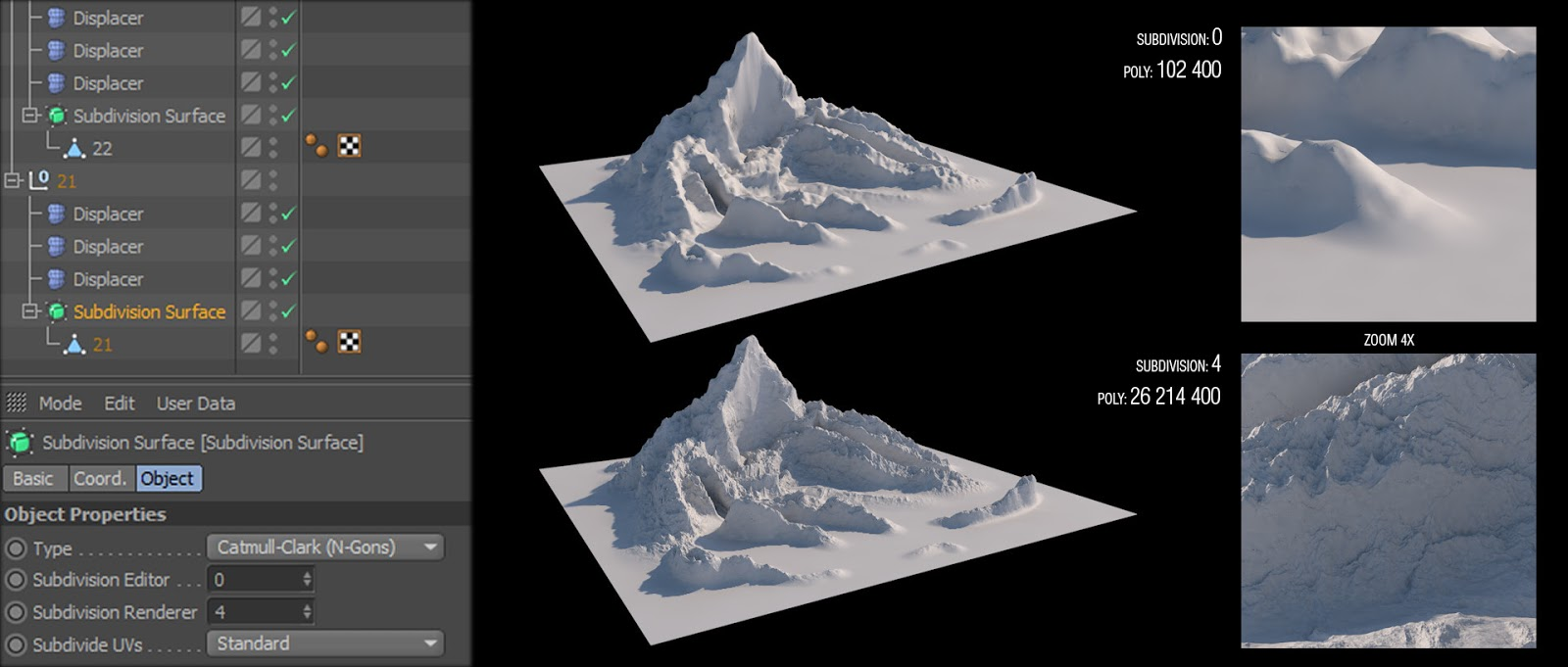 22 Free Detailed Mountain Landscapes for Cinema 4D