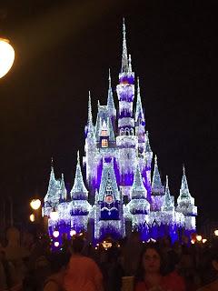 Cinderellas Castle lit up for Christmas