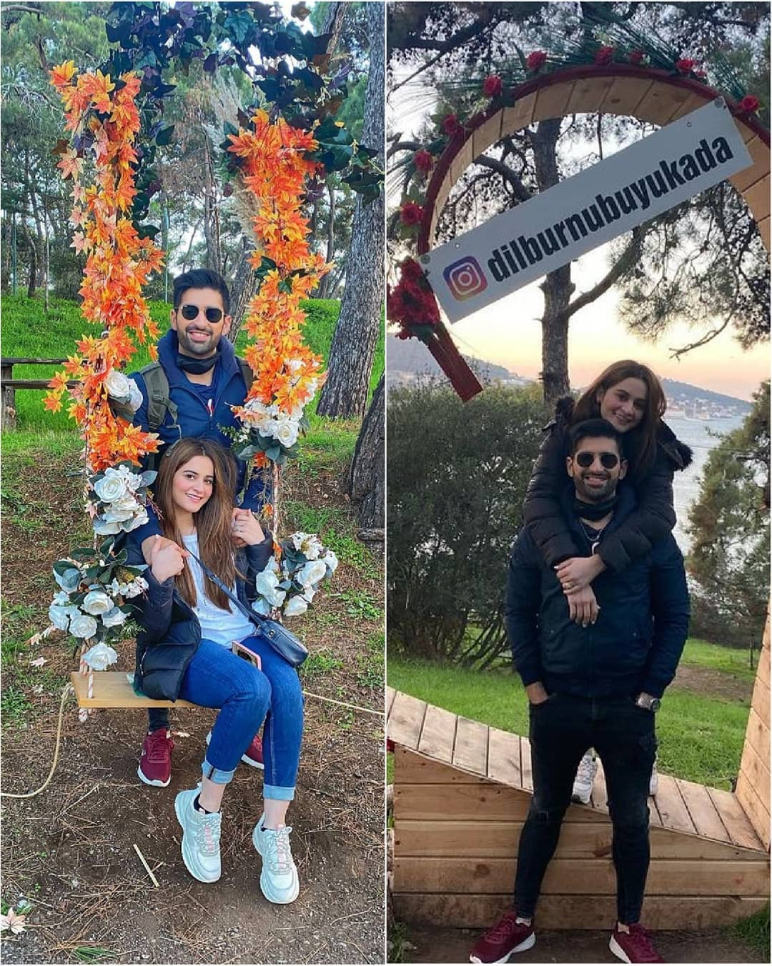 Aiman Khan and Muneeb Butt Turkey Pictures