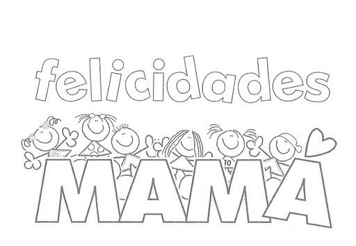 Tarjetas Para Colorear Del Día De La Madre La Vida Más Fácil