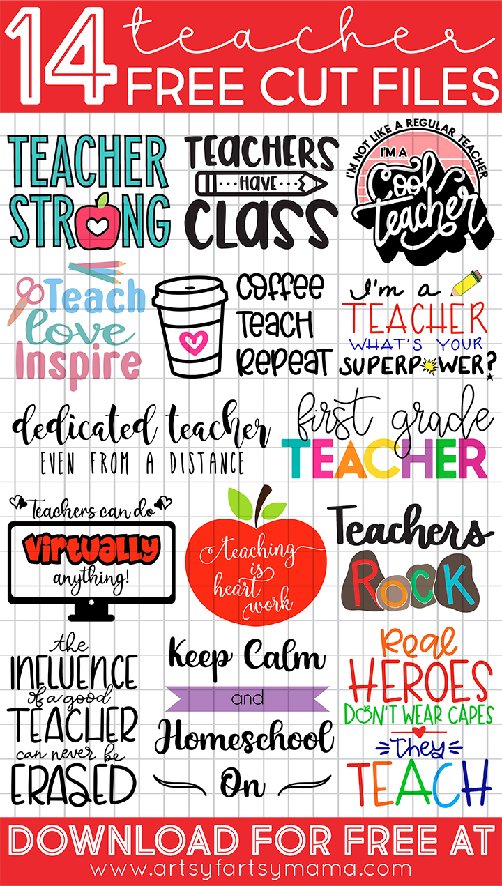 14 Free Teacher Appreciation Cut Files