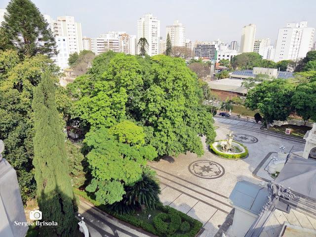 Palacete Violeta (jardim frontal visto do Mirante)