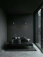 cama dormitorio de huespedes negra