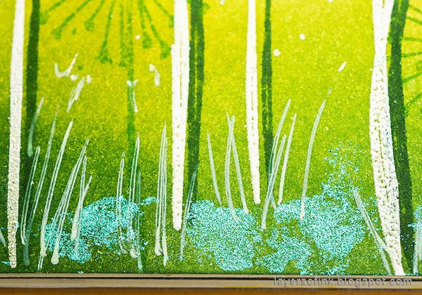 Layers of ink - Dandelion Fields Tutorial by Anna-Karin Evaldsson.
