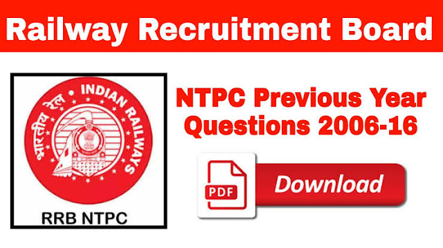RRB NTPC Previous Year Questions 2016