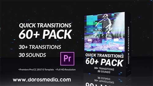 انتقالات بريمير  قوالب بريمير انتقالات بريمير سريعة رائعة Quick Transitions Pack   Premiere Pro Free Download