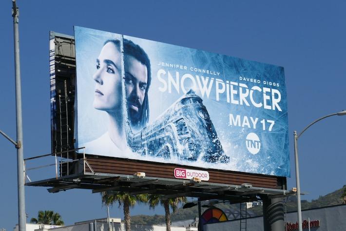 Snowpiercer series launch billboard
