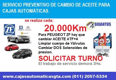 SERVICIO DE CAJA AUTOMATICA PEUGEOT 307