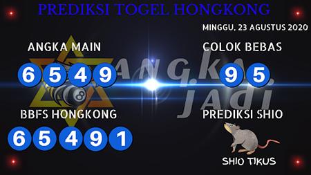 Prediksi Angka Jitu Togel Hongkong Minggu 23 Agustus 2020