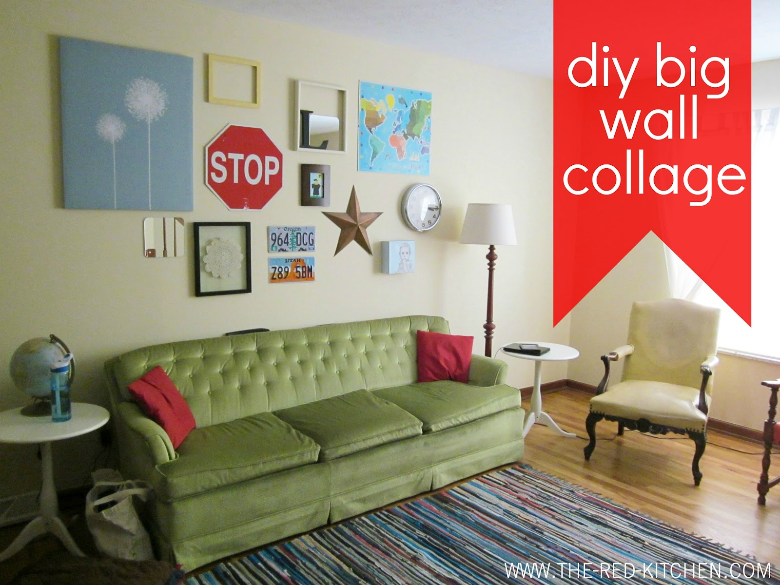 the red kitchen: DIY Big Wall Collage