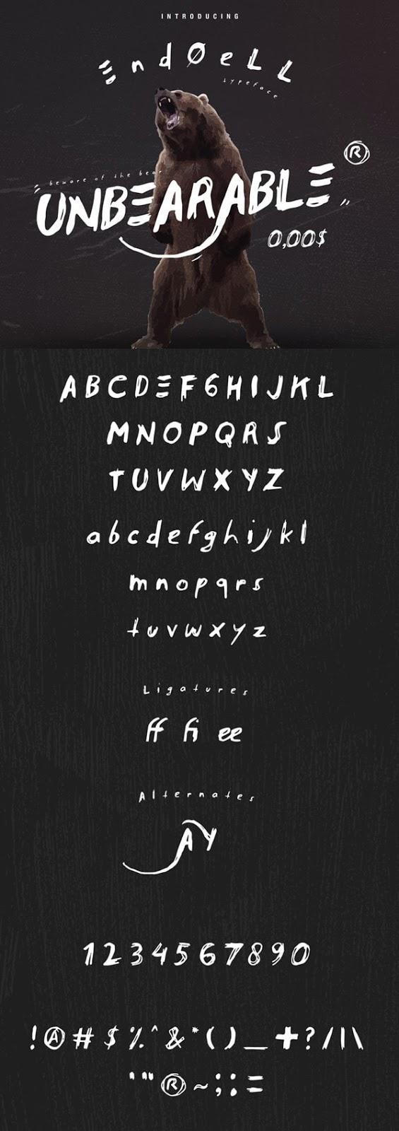 Vintage Font Gratis Terbaik - Endoell Free Vintage Font