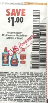 """$1.00/1 Colgate Mouthwash orMouth Rinse 200ml orlarger Coupon from """"SMARTSOURCE"""" insert week of 2/2/20."""