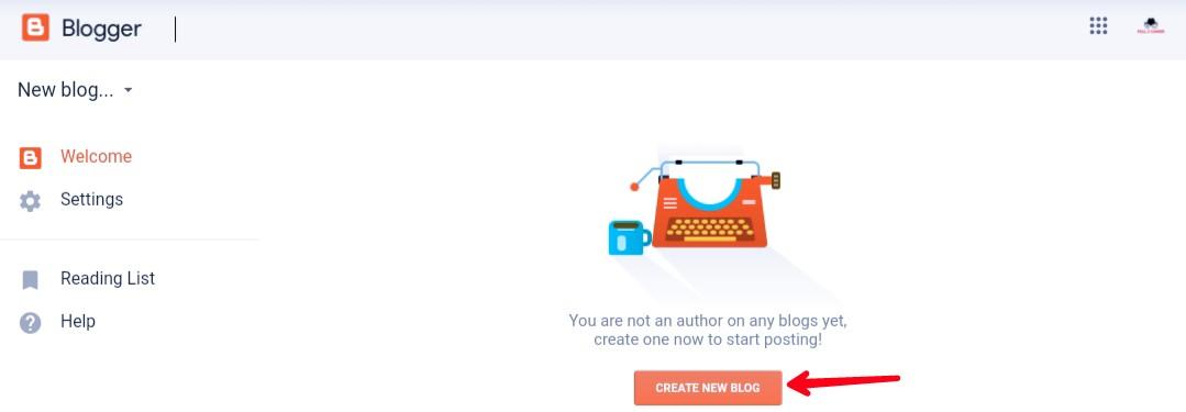Create-a-new-blog
