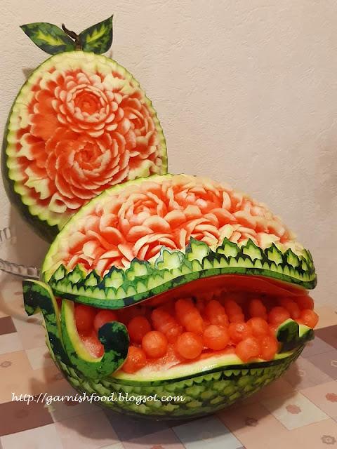 watermelon basket 2020 carving art